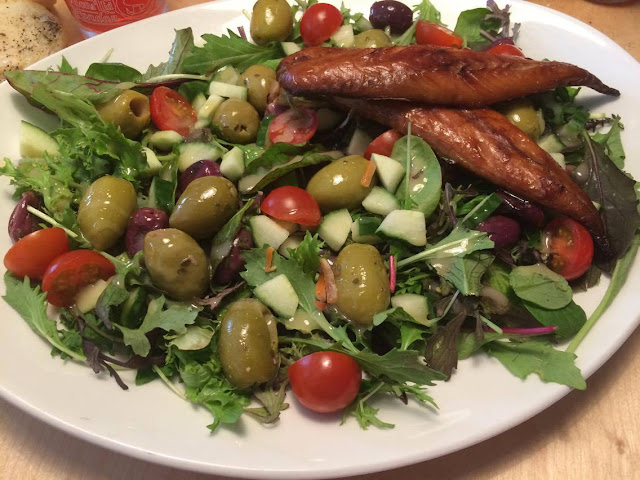 Cornish mackerel salad