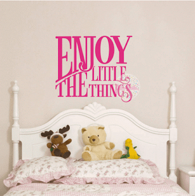 vinilo decorativo frase enjoy little things