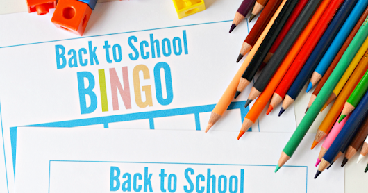 Printable: Back to School BINGO Checklist