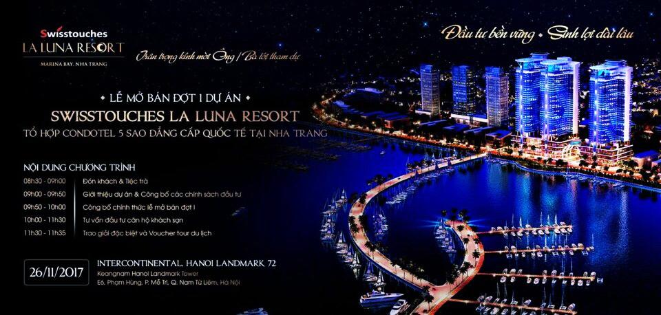 Thư mời sự kiện mở bán dự án La Luna Nha Trang