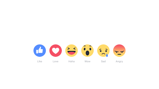Reaction Buttons are here in Facebook!