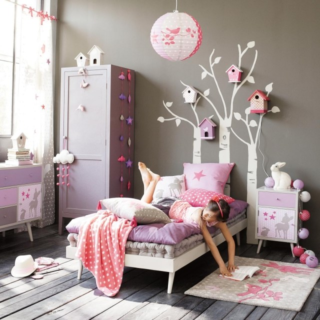 Dormitorios infantiles en color gris - Habitaciones de nina decoracion ...