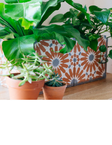 DIY Γλάστρες-Ζαρντινιέρες από πλακάκια