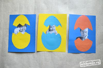 Easter crafts for kids 2021. Пасхальные поделки для детей. Аппликация с пасхальными яйцами. Весеннее творчество с детьми.
