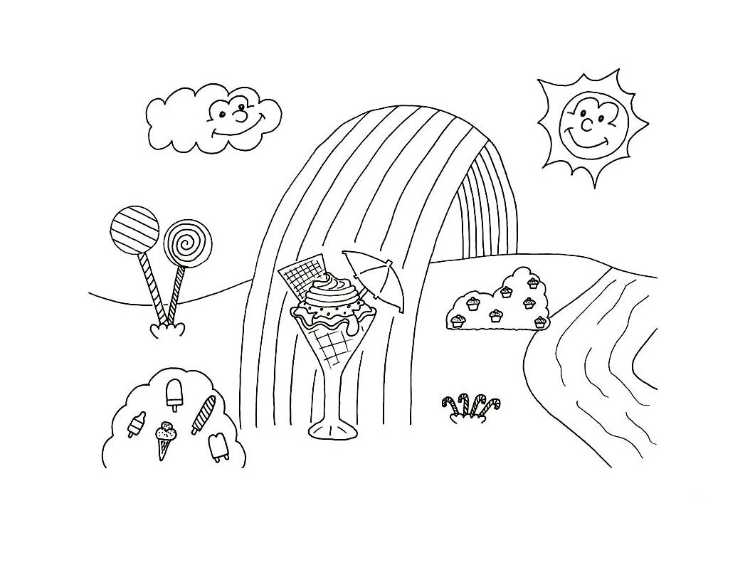 Cute Candyland Coloring Pages To