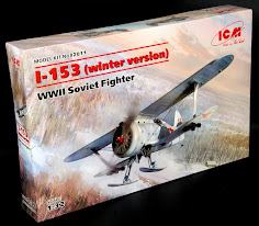 In-Boxed: 1/32nd scale I-153 (winter version) WWII Soviet Fighter from ICM