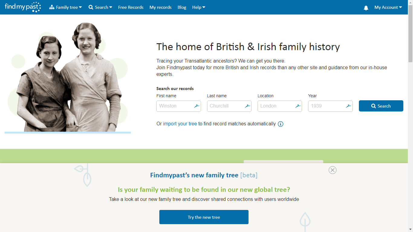 Checking Out Findmypast's New Global Tree