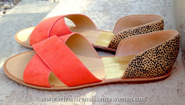 Dolce Vita Delila Open Toed Leopard D'Orsay Flat (2) - Stitch Fix #20 Review - April 2016