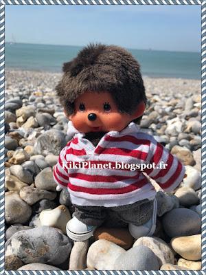 bubbles, monchhichi, kiki, peluche, vintage, toys, plage, le havre, normandie