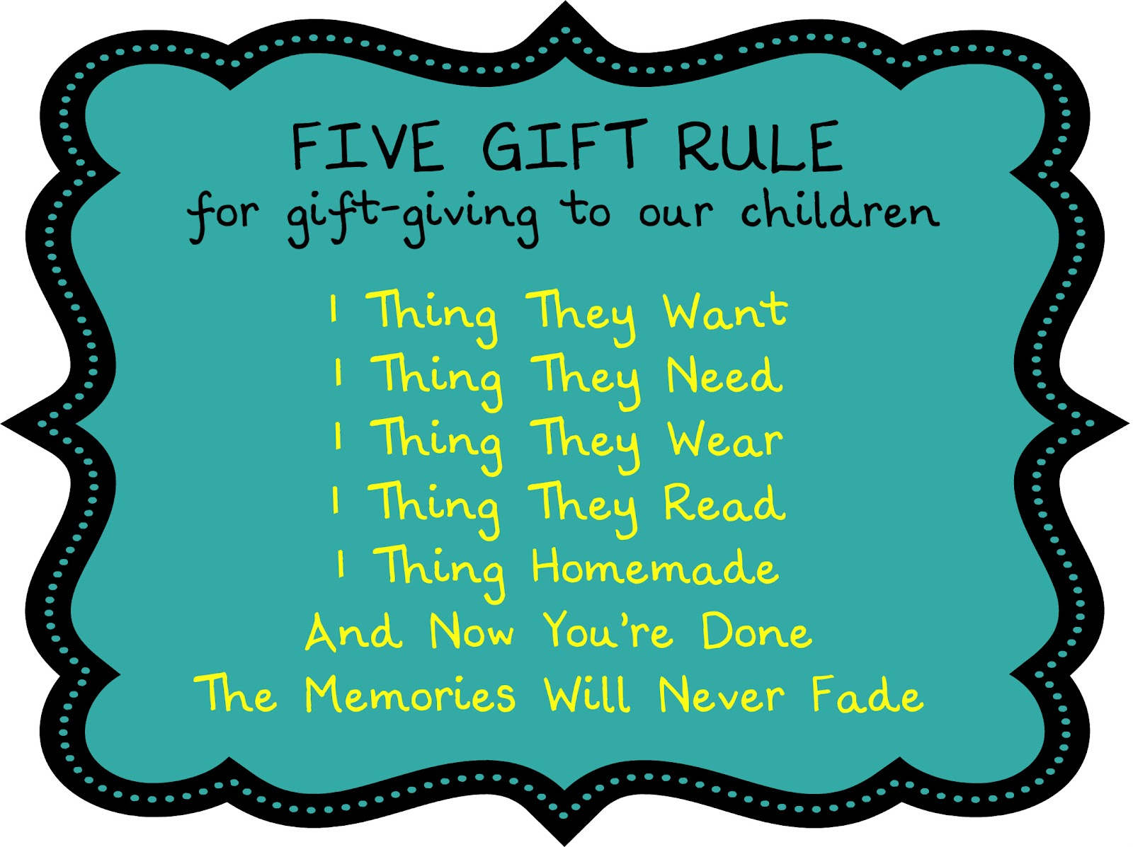 Birthing Me The Five Gift Rule