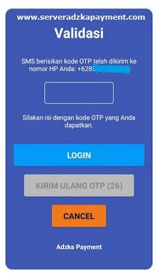 Validasi OTP Adzka Payment