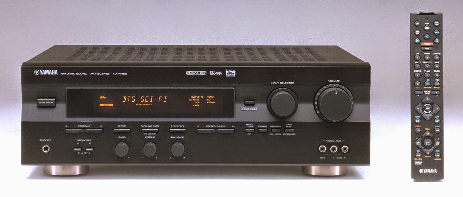yamaha rx v496 av receiver audiobaza. Black Bedroom Furniture Sets. Home Design Ideas