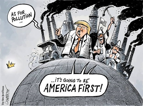 Toon of the Week - As for pollution ... It's going to be America First!