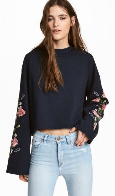 H&M Embroidered Sweatshirt