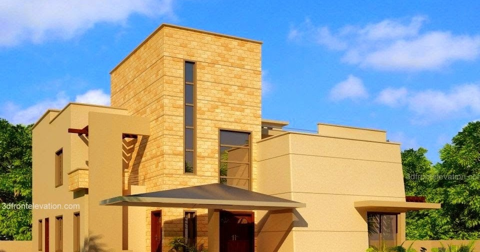 3d Front Elevation Com Beautiful Modern House Design