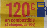 Cheque combustible 120€ Carrefour