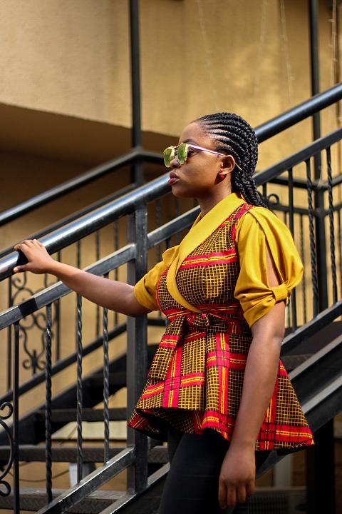 ankara african print peplum jacket #Madeinnigeria