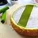 Baking Hack: Stove Top Matcha Cheesecake