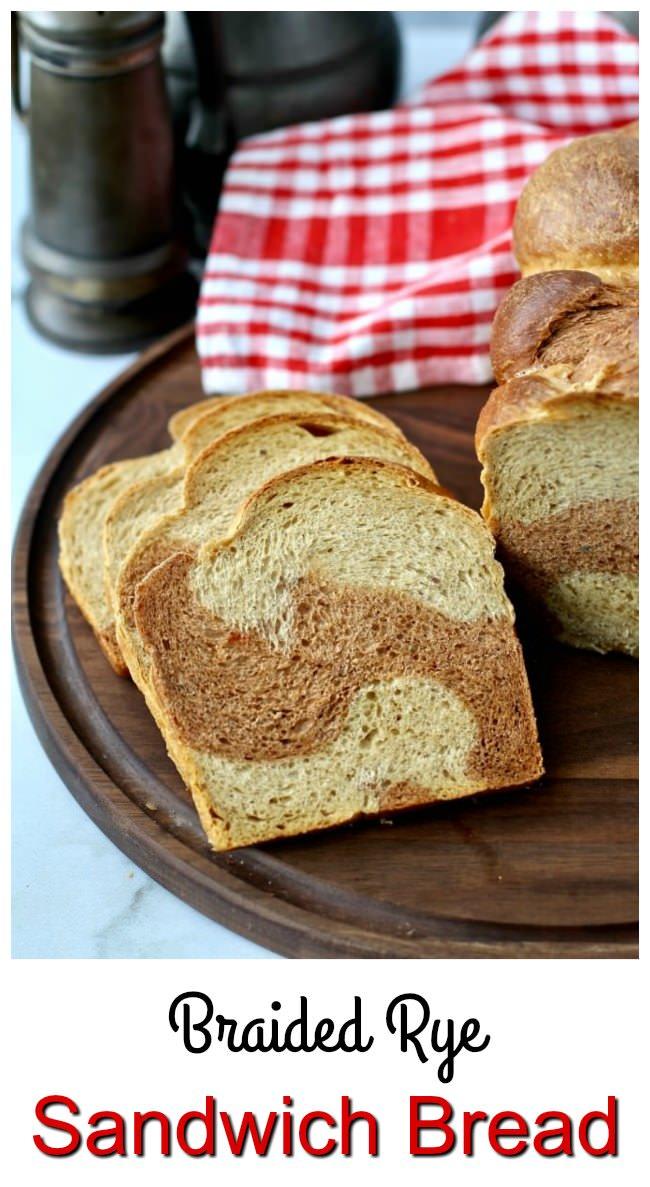 Braided Marbled Rye Bread #marbledrye #ryebread #rye
