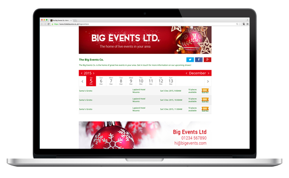 big events landing page