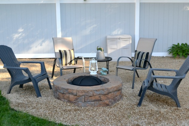 How to build your own backyard fire pit with pea gravel surround