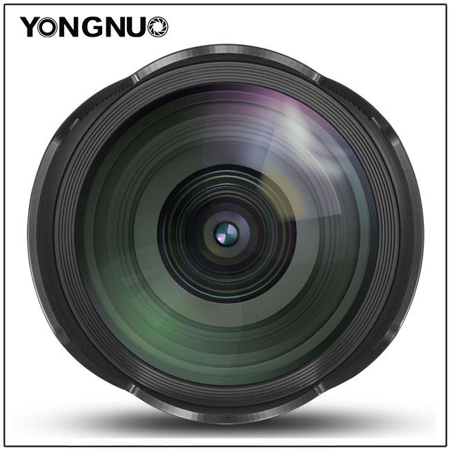 Yongnuo YN 14mm f/2.8,вид спереди