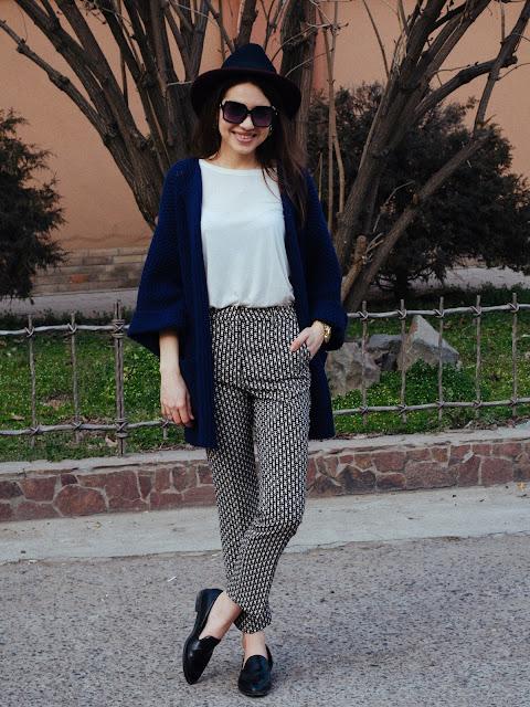 fashionbloger_diyorasnotes_pants_hm_cardigan_asos_hat_forever21