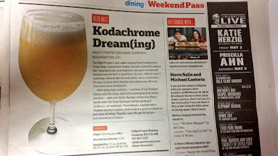 Local paper had a blurb about Kodachrome Dream(ing), the collaboration I brewed with Right Proper.