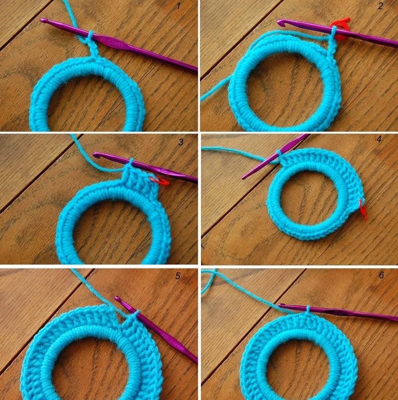 Como hacer marcos de fotos de crochet con aros patrones - Hacer marco fotos ...