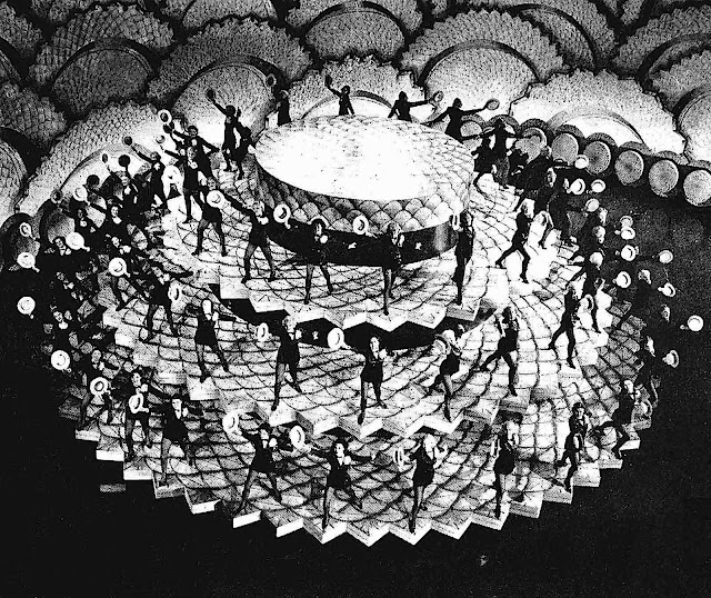 1934 cinematic choreography by Busby Berkley, hats off in a photograph
