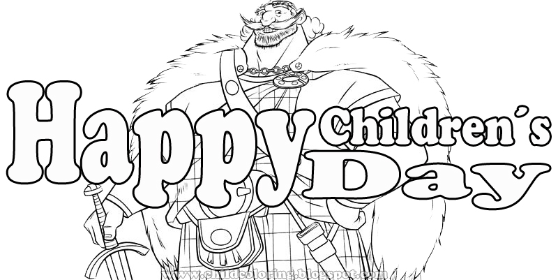 Coloring Page Children´s Day ~ Child Coloring