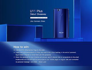 Oukitel تعلن على مسابقة للفوز بهاتفها U11 Plus