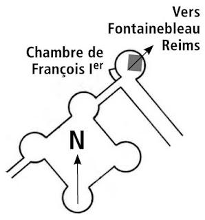 La chambre de François 1er à Chambord.