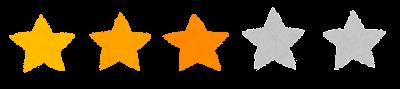 5段階評価の星印マーク(3)