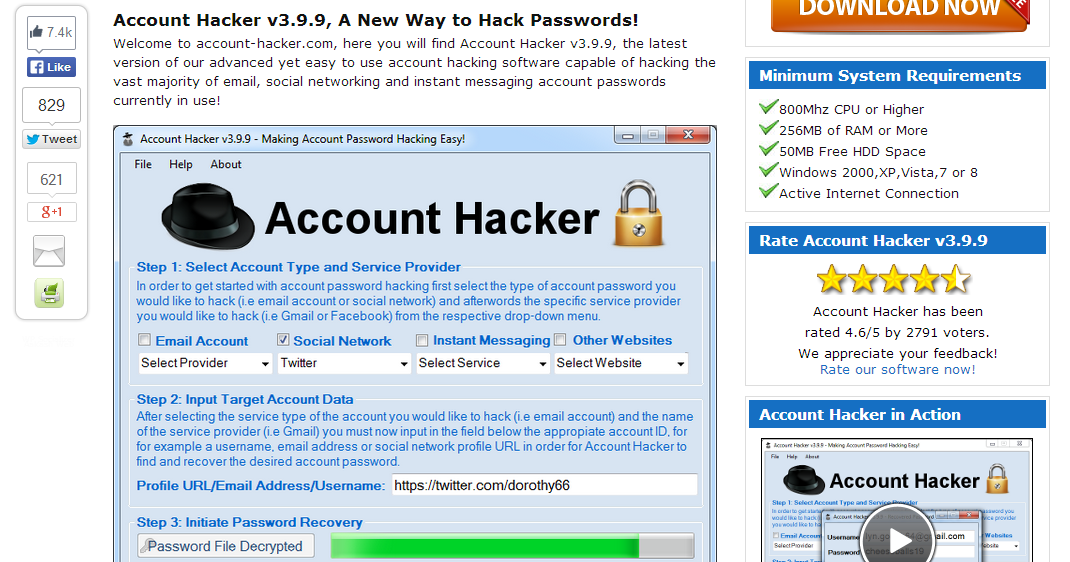 Account hacker v3.9.9 activation code free