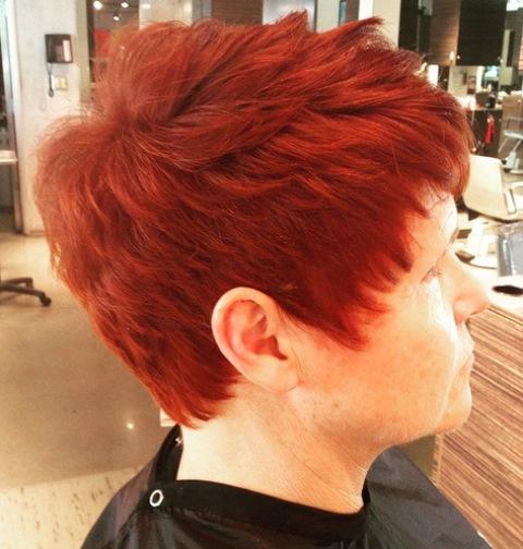 Tekstur Rambut Pirang Merah