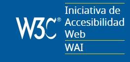 Logotipo de WAI iniciativa de accesibilidad del W3C
