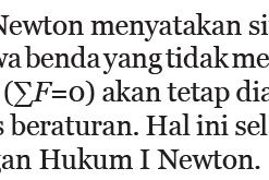 HUKUM 1 NEWTON Lengkap Beserta Penjelasannya