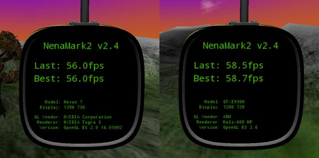 rendimiento en juegos Nexus 7