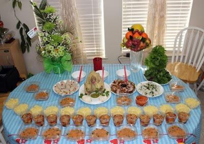 Chuẩn bị đồ ăn cho bữa tiệc