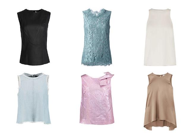 Шесть блузок из разных тканей с различным посылом инь и ян