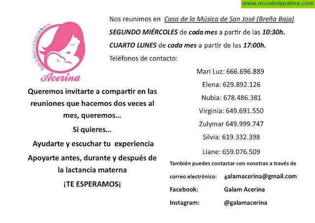"""Reuniones del Grupo de Apoyo a la Lactancia Materna """"Acerina"""""""
