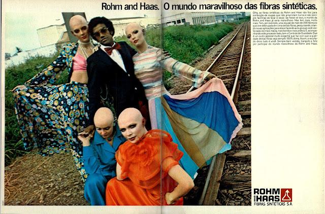 propaganda Rohm Haas - 1973 com o cantor Jorge Ben.  Moda anos 70; propaganda anos 70; história da década de 70; reclames anos 70; brazil in the 70s; Oswaldo Hernandez