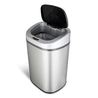 Automatic Touchless Motion Sensor Oval Trash Can