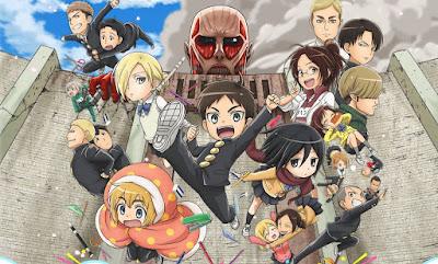 AOT: Attack on Titan: Junior High | Shingeki! Kyojin Chuugakkou | 720p | TVRip | English Subbed | x265