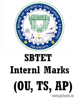 SBTET Internal Marks for OU, AP, TS (C09, C16, C14) 2018