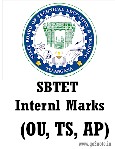 SBTET Internal Marks 2018 for OU, AP, TS (C09, C16, C14)