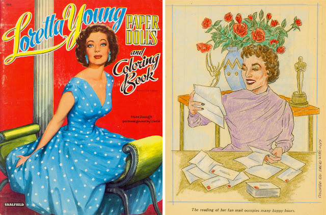 Loretta Young coloring book pages
