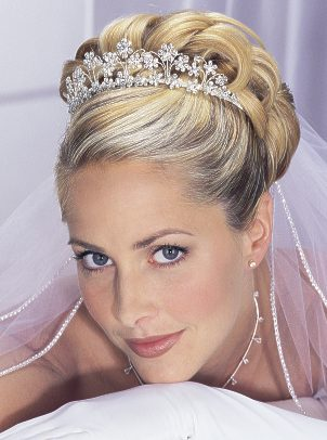 Wedding Hairstyles Updos With Veil And Tiara | Wedding
