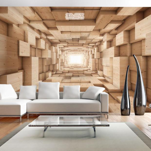 Stylish 3d Wallpaper Living Room Walls Wall Murals